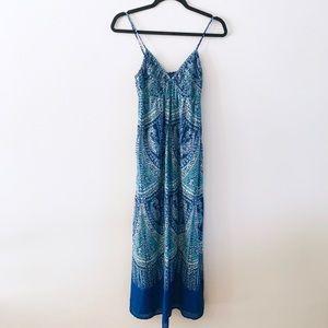 GAP | Blue Boho Paisley Print Maxi Dress